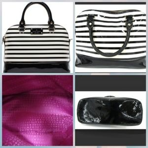 Kate Spade Rachelle Wellesley Patent Stripe bag